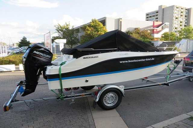 Quicksilver Activ 455 Open + 15 PS + Trailer